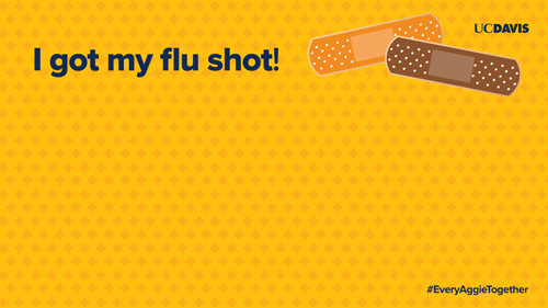 Thumbnail image of flu vaccination Zoom background.