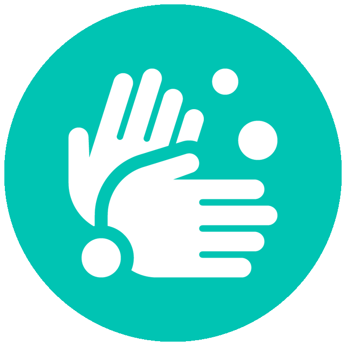 vector icon of hands washing